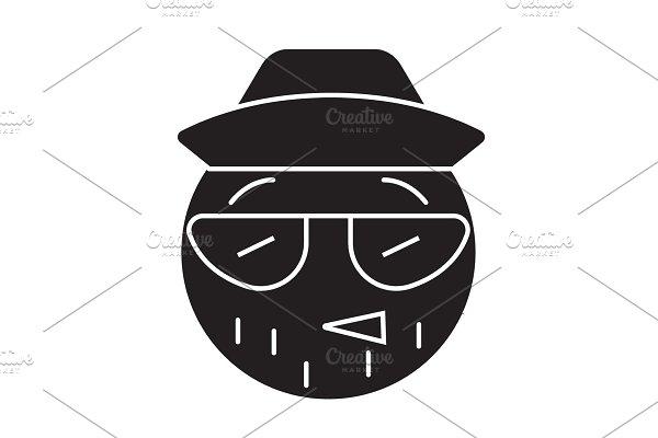 Emo Emoji concept line editable ~ Illustrations ~ Creative