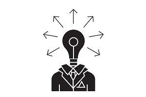 Idea businessman black vector