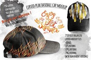 Curved peak Baseball Cap Mockup