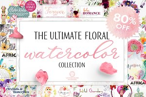 Ultimate Watercolor Flowers Bundle