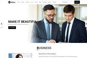 MULL - Bootstrap 4 HTML Template