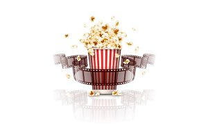 Jumping popcorn and film-strip film