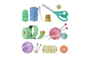 Tools and materials for fancywork