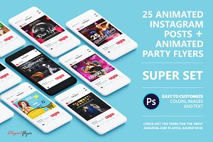 25 ANIMATED Instagram posts in PSD