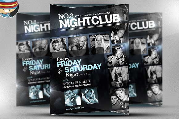 No. 8 Nightclub Flyer Template - Flyers