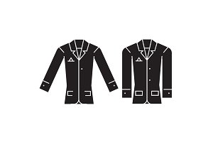 Casual jacket black vector concept