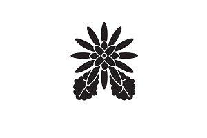 Chrysantemum black vector concept