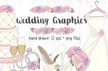 Hand Drawn Vector Clipart - Wedding
