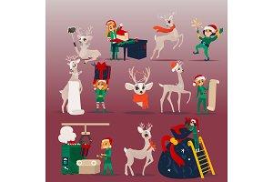Vector illustration set of Christmas