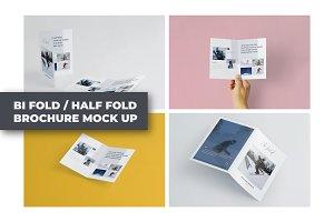A5 Bifold/Half-Fold Brochure Mockup