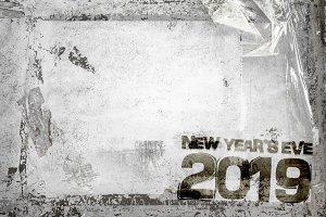 2019 NYE Grunge Background