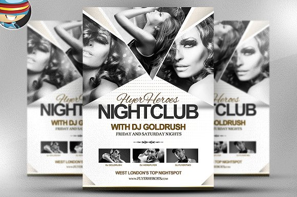FH Nightclub Flyer Template Flyer Templates Creative Market – Night Club Flyer