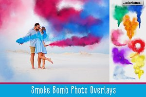 Smoke Bomb Photo Overlays