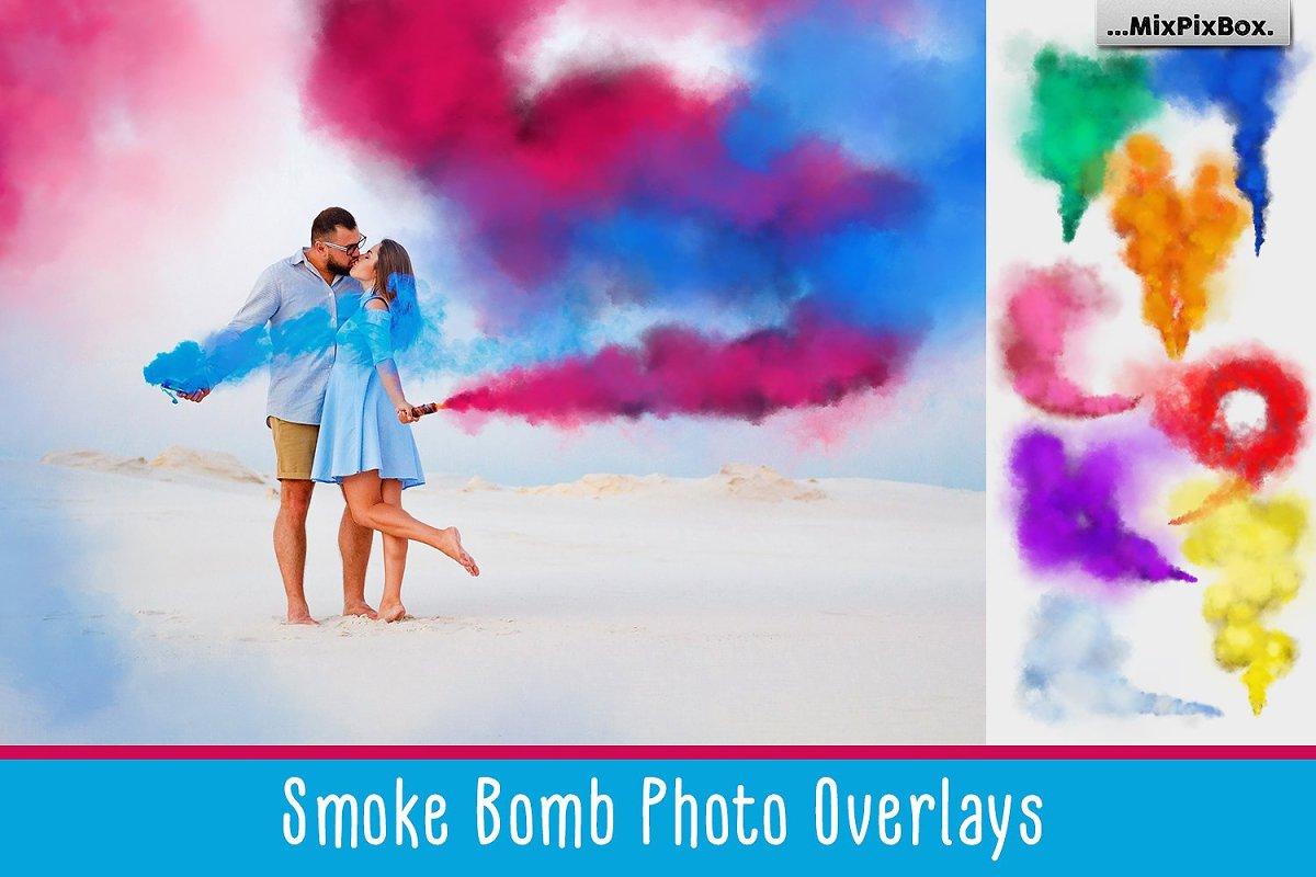 Smoke Bomb Photo Overlays ~ Photoshop Add-Ons ~ Creative Market