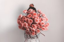 Bunch of Living Coral roses by  in Arts & Entertainment