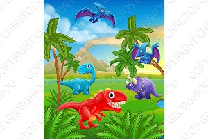 Dinosaur Cartoon Prehistoric