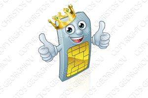 Sim Card Mobile Phone Thumbs Up King