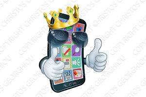 Mobile Phone Cool King Thumbs Up