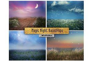 Magic Night Backdrop