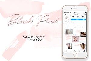 Instagram 9-tile Puzzle Grid - Pink