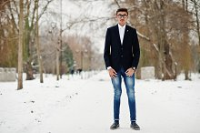 Stylish indian student man in suit a