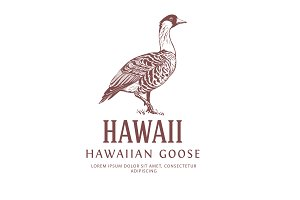 Vintage Bird Logo Goose