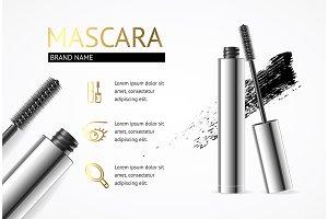 Mascara Makeup Concept Banner
