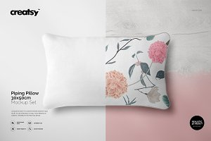 Piping Pillow Mockup 30x50cm