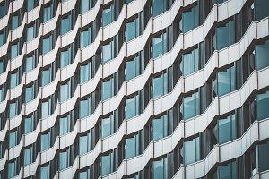 Irregular facade of a building