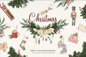 Classic Christmas Graphic Set