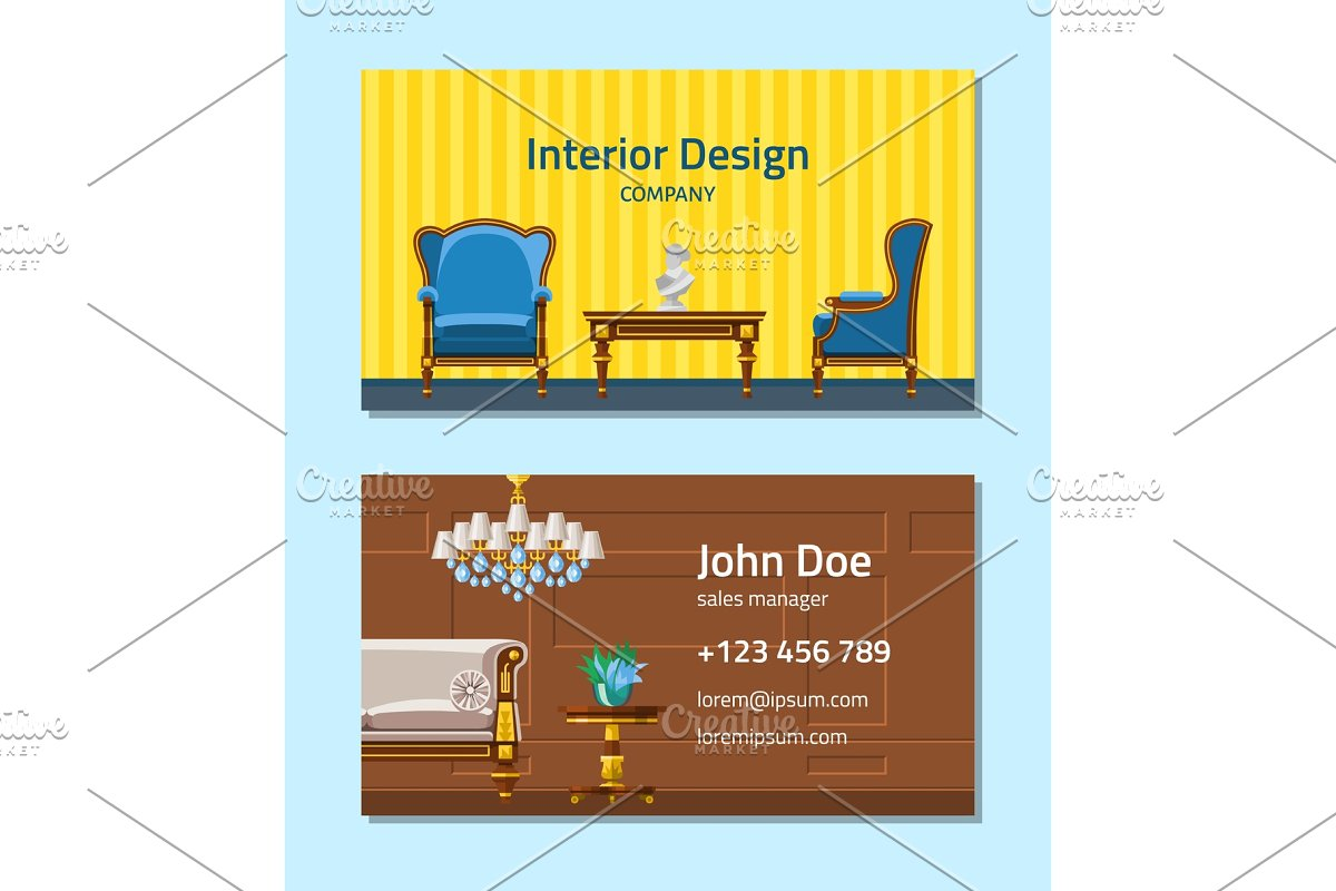 Furniture Vector Furnishings Design Graphic Objects Creative Market