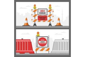 Error 404 page vector internet