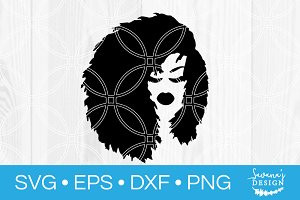 Afro Hair Black Woman SVG