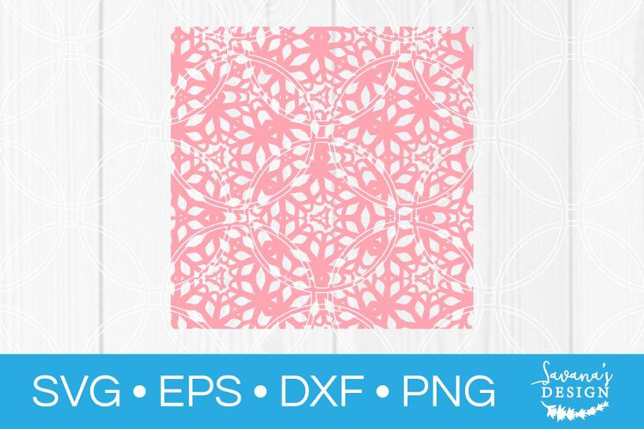 Lace Pattern Background SVG