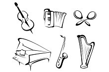 Musical instruments set 1