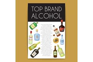 Alccohol banner wine list template