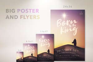 Born Is The King Church Poster