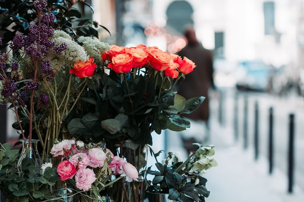 Arts & Entertainment Stock Photos: Edalin's Store - Flower shop in Paris