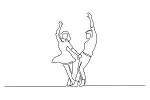 Couple woman and man dancing