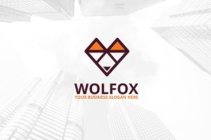 Wolfox Logo Template