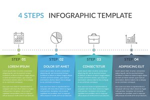 Infographic Template with 4 Elements
