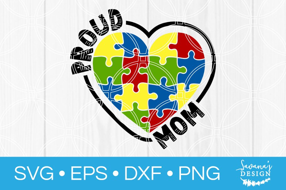 a158dfade34 Proud Autism Mom SVG ~ Illustrations ~ Creative Market