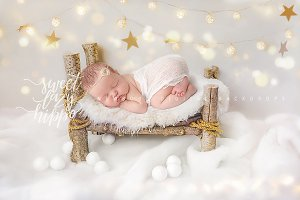Christmas Newborn Digital Backdrop