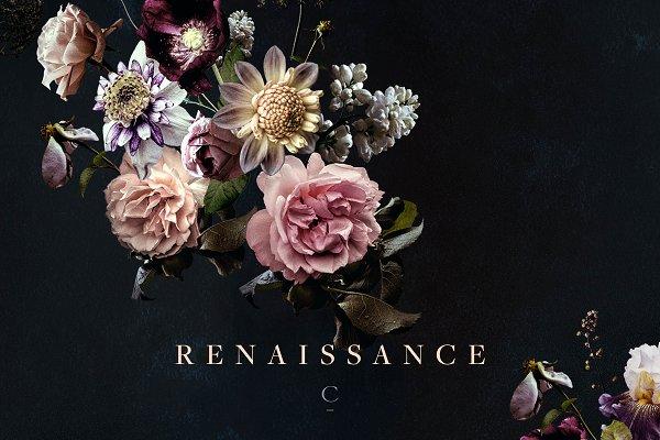 Vintage Floral Clip Art: Renaissanc…