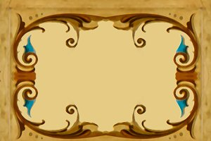 Vintage Ornate Frame Background