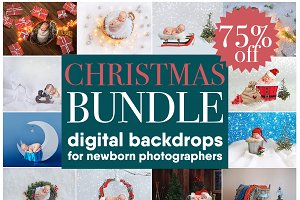 CHRISTMAS Bundle 17digital backdrops