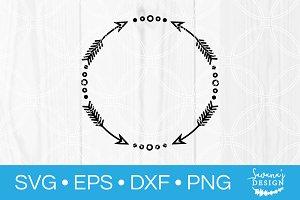Arrow Frame Monogram SVG