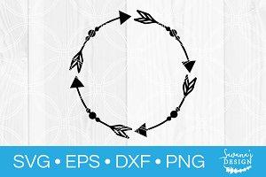 Arrow Circle Monogram Frame SVG