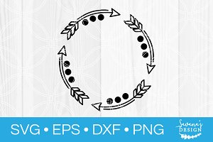 Arrow Round Monogram SVG