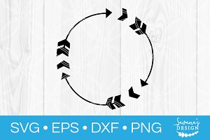 Arrow Circle Monogram SVG